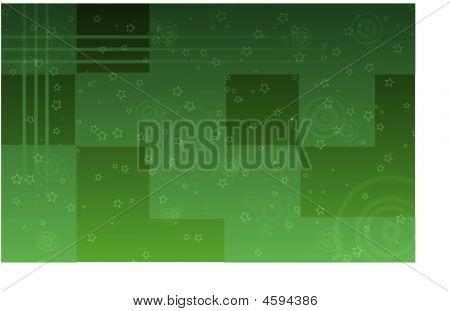 Green Stars Wallpaper