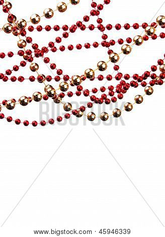 Christmas Decoration Hanging On White Background
