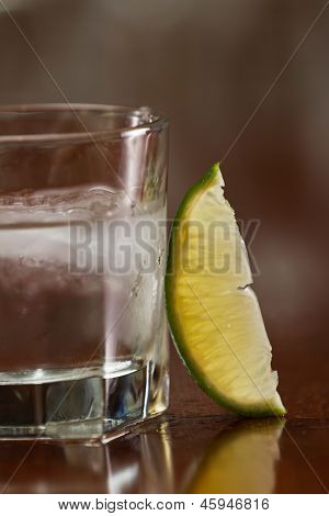 Silver Tequila On The Rocks