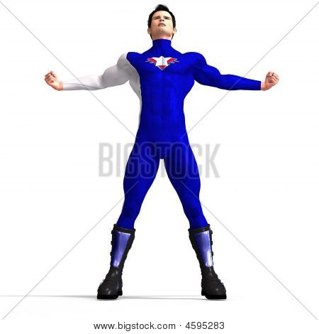 Blue Super Hero