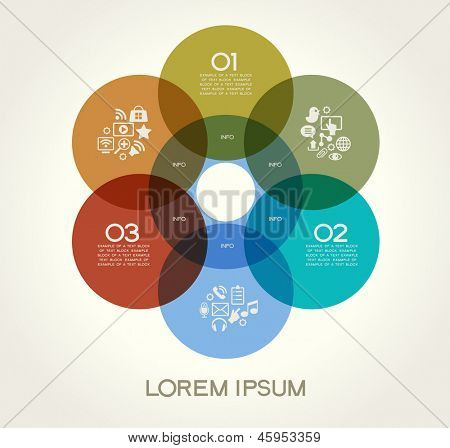 Modern communication technology banner. Vector illustration. Infographic template design - Original geometric shapes. Ideal to display data and informations with modern style.