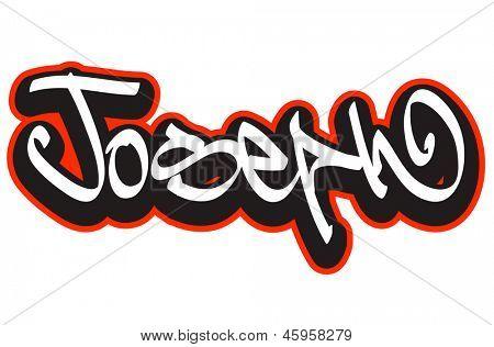 Joseph Graffiti Font Style Name. Vector & Photo | Bigstock