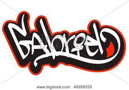 Gabriel graffiti font style name. Hip-hop design template for t ...