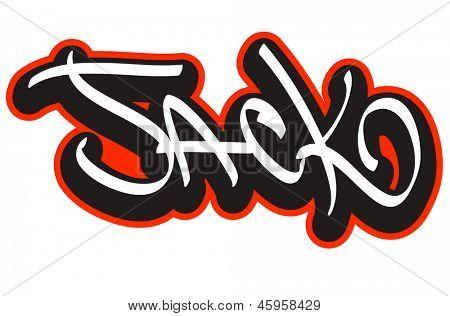 Jack Graffiti Font Style Name Hip Vector Amp Photo Bigstock