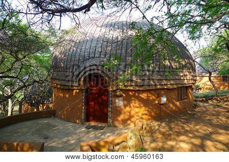 Hotel room in Shakaland Zulu Village, South Africa