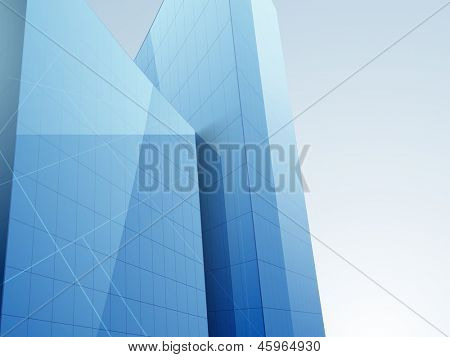 3D concept of building construction, architecture designing concept.