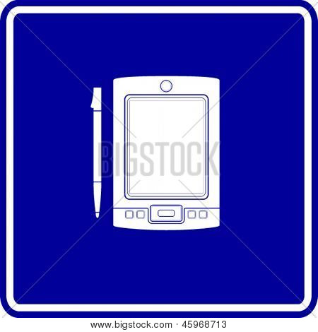 pda handheld computer sign