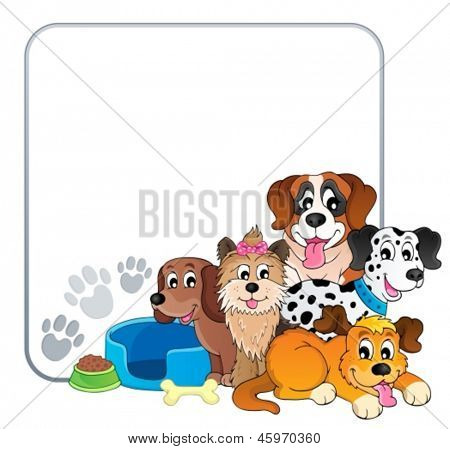 Frame with dog theme 2 - eps10 vector illustration.