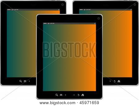 Tablet Pc Set Isolated On White Background