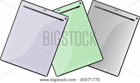 Set Of Tablet Pc Computers Isolated On White Background
