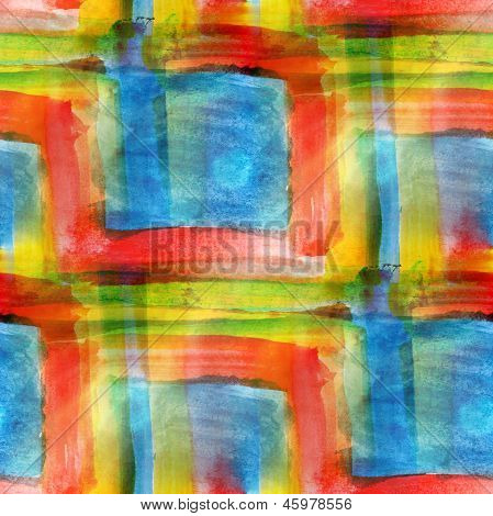 blue, red, yellow art avant-garde background hand paint seamless