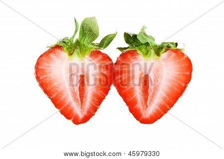 Beautiful Strawberry Isolated On White Background