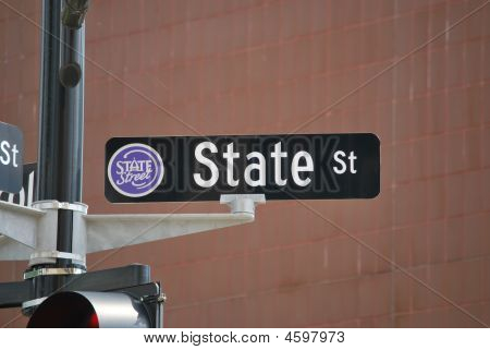 State Street Road Sign