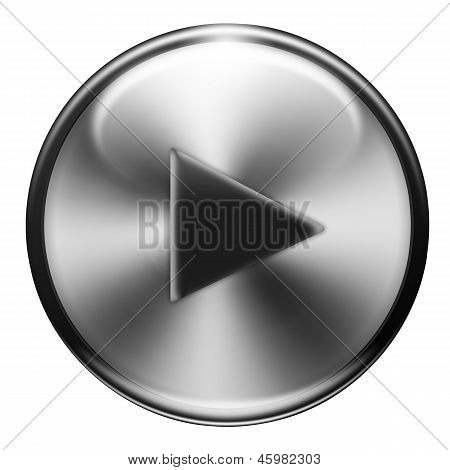 Play Button Metallic