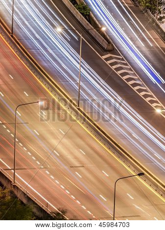 Tollway Traffic In The Night