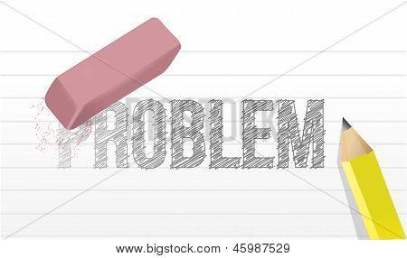 Erase All Problems Concept Illustration Design