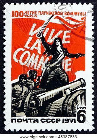 Postage Stamp Russia 1971 Paris Commune, Fourth French Revolution