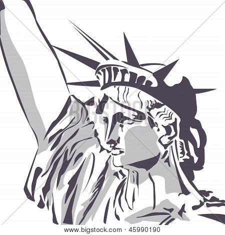 Liberty statue vector