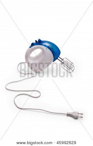 mixer  blue kitchen beater blender cooking food hand close up is
