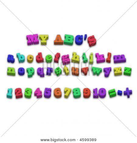 Fridge Magnet Alphabet Spelling Letters