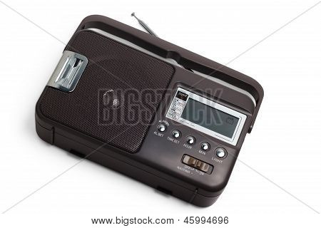 radio old fm portable transistor tuner set isolated fashione