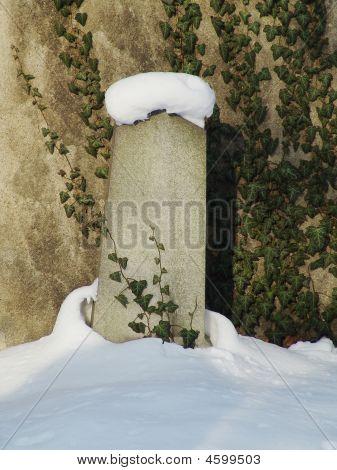 Winter Jewish Cemetery In Prague