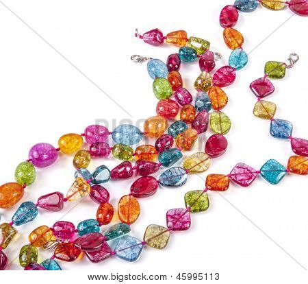 Glass beads, on white