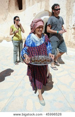 Berber Woman With Drinks