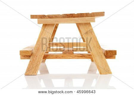 Empty Wooden Picnic Table