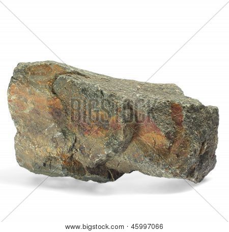 stone single granite boulder large river isolated big rock block
