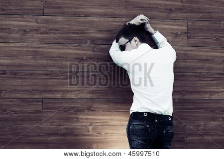Young business man in depression