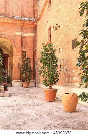 Patio in Sienna, Italy