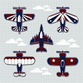 airplanes cartoon vector