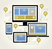 image of multitasking  - A modern set of infographics and icons Social Media - JPG