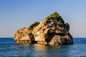 stock photo of zorro  - view from Porto Zorro beach in Zakynthos - JPG