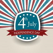 4th of July, American Independence Day flyer, poster or background.