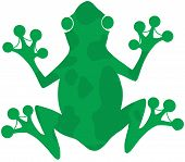 image of tadpole  - Green Spotted Frog Silhouette Logo Cartoon Character - JPG