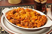 picture of enchiladas  - an enchilada casserole made of rice and hamburger - JPG