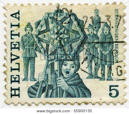 Switzerland stamp 5C