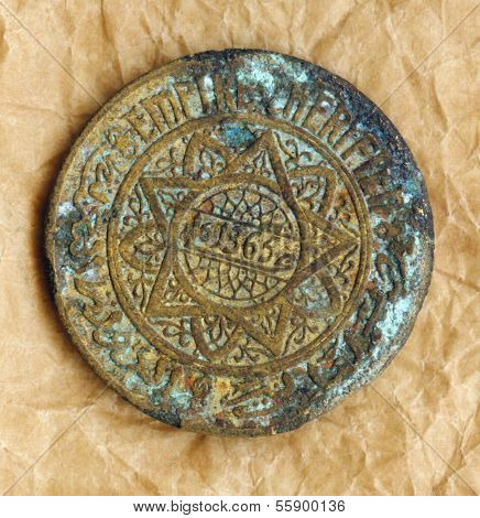 Old coin from Morocco 5f
