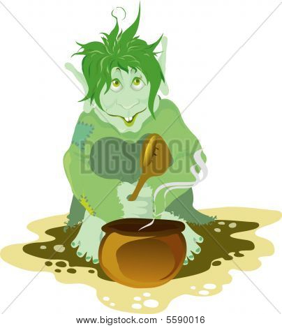 troll eating food