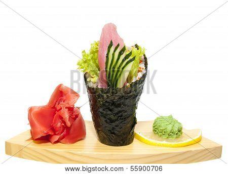 Japanese cuisine in the restaurant