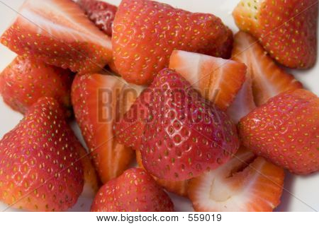 Halved Strawberries