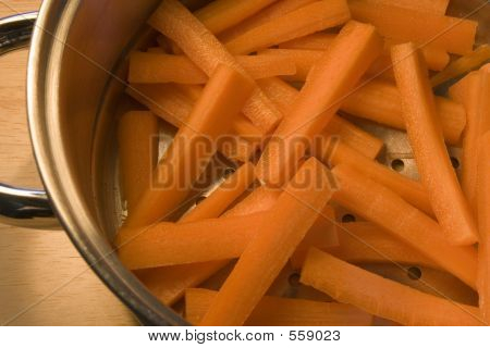 Carrot Sticks In Steamer