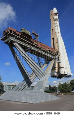 Monument for First Man in Space in Moscow