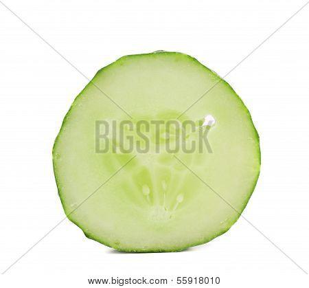 Slice of resh cucumber.