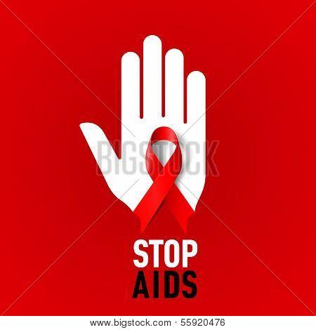 Stop aids Zeichen.