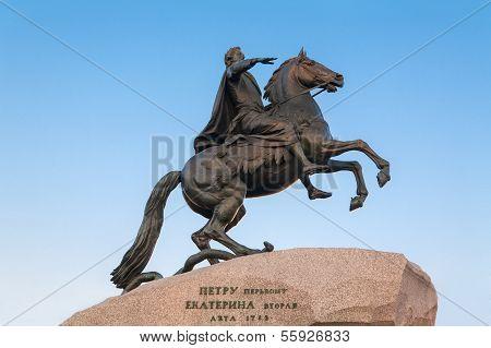 Bronze Horseman. Russia. St-Petersburg.