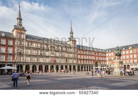 zentralen Platz des Plaza Mayor in Madrid, Spanien
