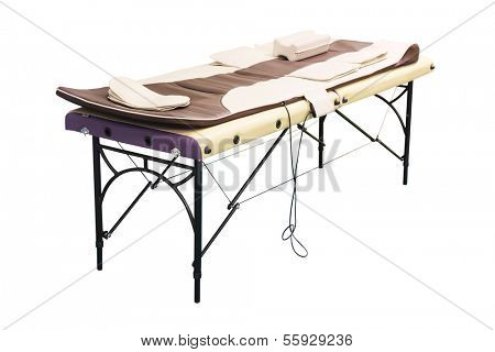 massage bed under the white background
